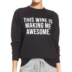 Brunette the Label This Wine Crew Neck Sweatshirt